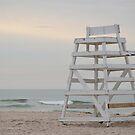 Lifeguard Chair At Ponquogue Beach   Hampton Bays, New York  by © Sophie W. Smith