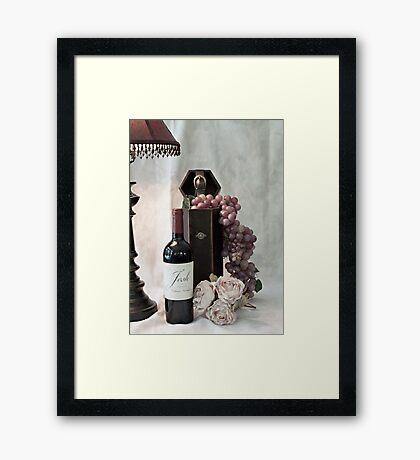 Wine Tasting Evening Framed Print