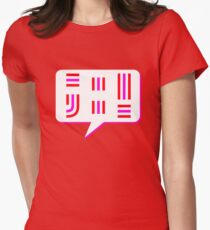 Let's Talk Punctuation Womens Fitted T-Shirt