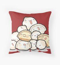 Dumpling Party Throw Pillow