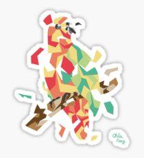 Parrot explosion Sticker