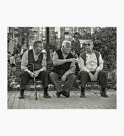 Three Old Friends Photographic Print