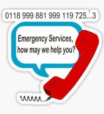 0118 999 881 999 119 7253 IT Crowd Emergency Services Sticker