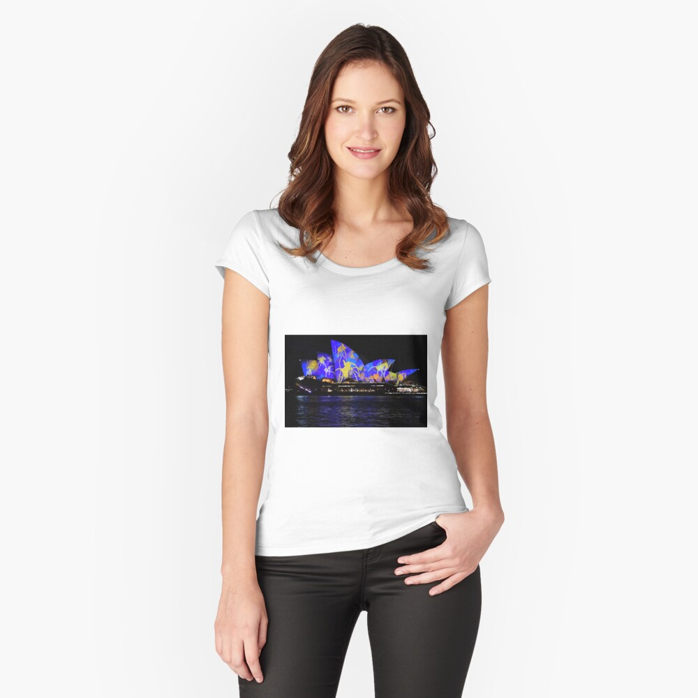 Vivid 2016 Opera House 9 Fitted Scoop T-Shirt