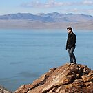 Adventure / Hike , Mountain on Antelope Island, Utah by Derek Michael Brennan