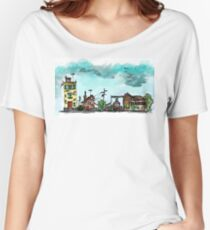 Urban Sketching Doodle 01 Women's Relaxed Fit T-Shirt