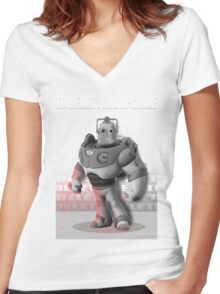 Cyber Story 2 Women's Fitted V-Neck T-Shirt