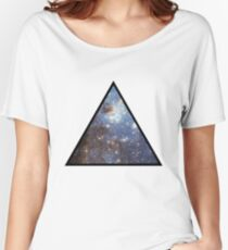 Blue Galaxy Triangle Women's Relaxed Fit T-Shirt