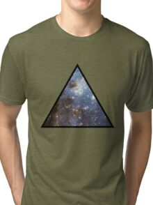 Blue Galaxy Triangle Tri-blend T-Shirt