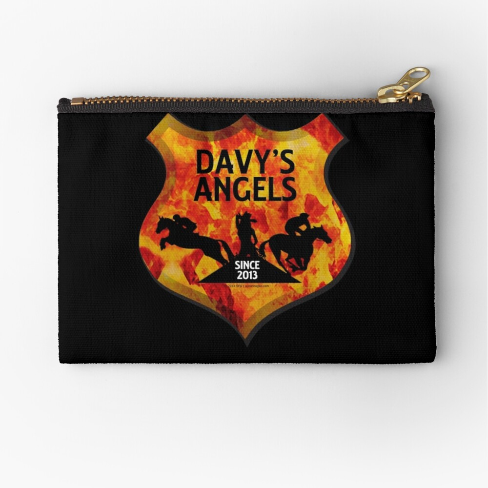 Davy's Angels Badge Zipper Pouch