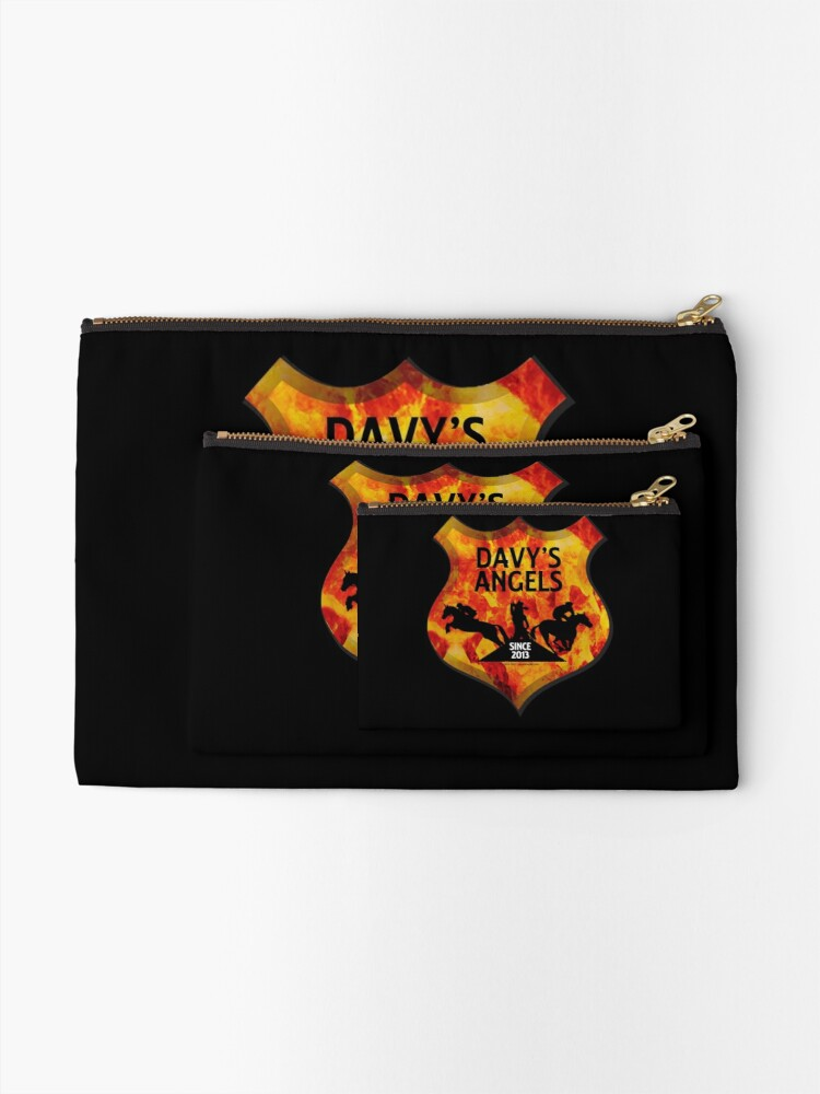 Alternate view of Davy's Angels Badge Zipper Pouch