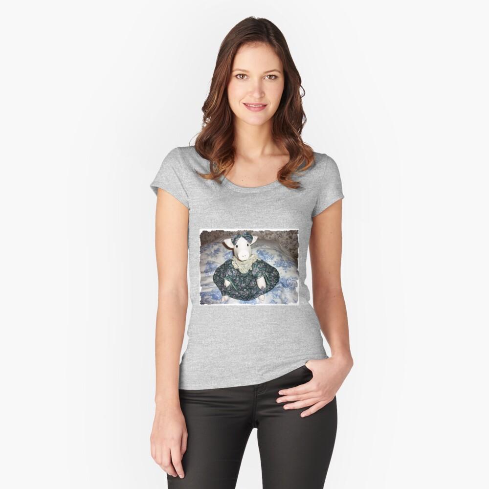 Miss Piggy - sitzt auf meinem Bett Tailliertes Rundhals-Shirt