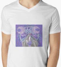 Celtic moon Goddess Men's V-Neck T-Shirt