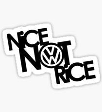 Nice Not Rice - VW Sticker