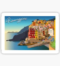 Riomaggiore at Sundown Sticker