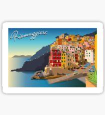 Riomaggiore at Sundown Sticker