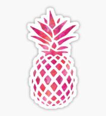 Pineapple Pineapple Fuchsia Watercolour Sticker