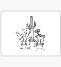Hand Drawn Cacti Sticker