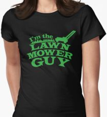 I;m the LAWNMOWER guy! with mower in green T-Shirt