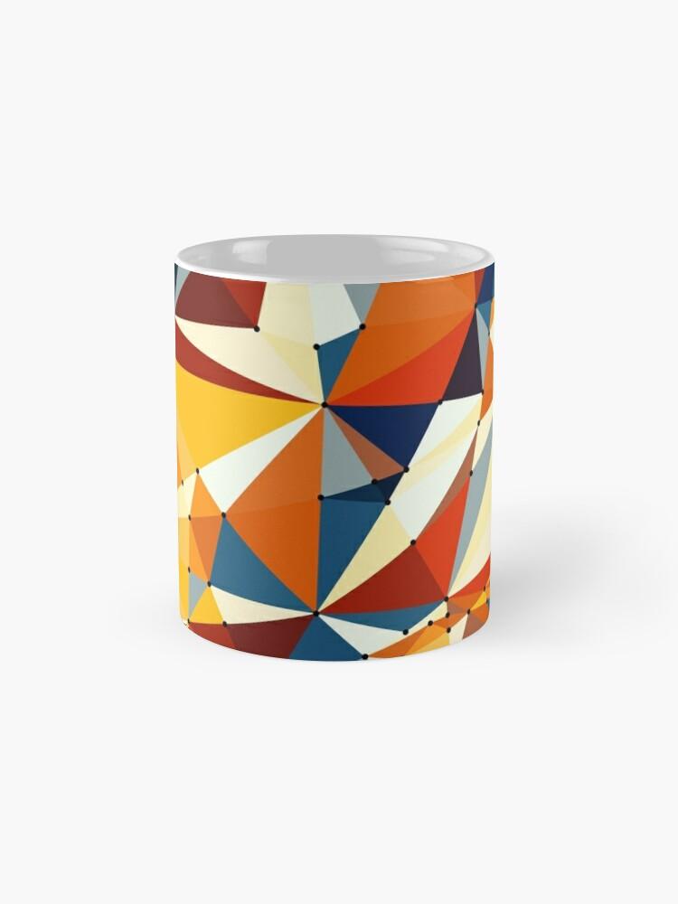 Alternative Ansicht von Net of multicolored triangles Tasse