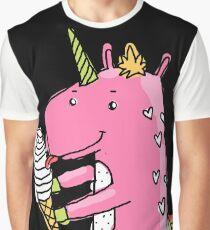Unicorn and ice cream Graphic T-Shirt