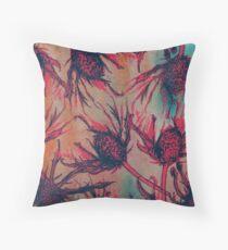 Autumn Thistle Throw Pillow