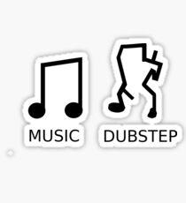 Music Vs. Dubstep Sticker