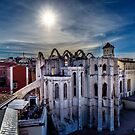 Low Sun over the centre of Lisbon  by MarcW