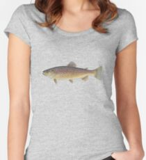 Brown Trout (Salmo trutta) Women's Fitted Scoop T-Shirt
