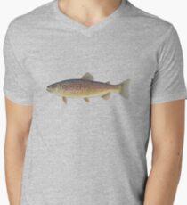 Brown Trout (Salmo trutta) Men's V-Neck T-Shirt