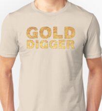 GOLD DIGGER in gold foil (image) Unisex T-Shirt