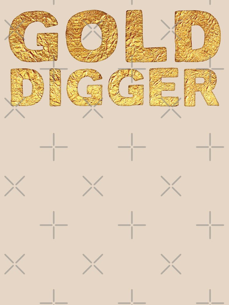 GOLD DIGGER in gold foil (image) by jazzydevil