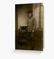 Old War Dog Greeting Card