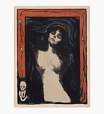 Edvard Munch - Madonna 1. Munch - woman portrait. Photographic Print