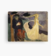 Edvard Munch - Separation. Munch - lovers. Canvas Print