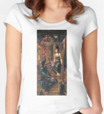 Edward Burne-Jones  - King Cophetua And The Beggar Maid 1884. Burne-Jones  - people portrait. Women's Fitted Scoop T-Shirt