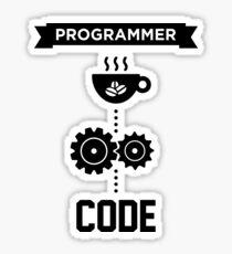 Programmierer - Liebes-Kaffee-Code Sticker