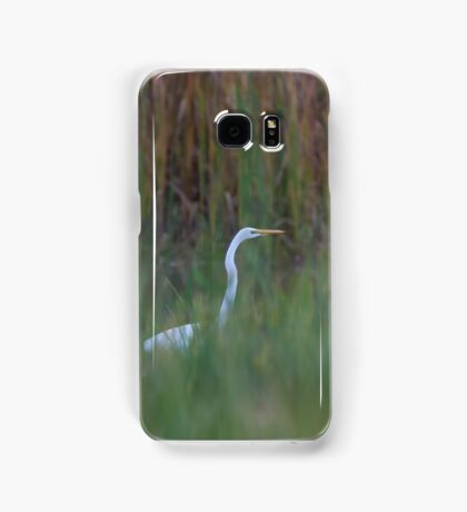 Great Egret amongst the reeds Samsung Galaxy Case/Skin