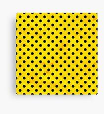 Yellow polka dots Canvas Print