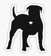 My American Bulldog Heart Belongs To You Sticker