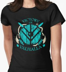 victory or valhalla - shieldmaiden - 2 Women's Fitted T-Shirt