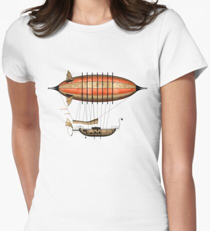 Elegant Vintage Steampunk Airship T-Shirt