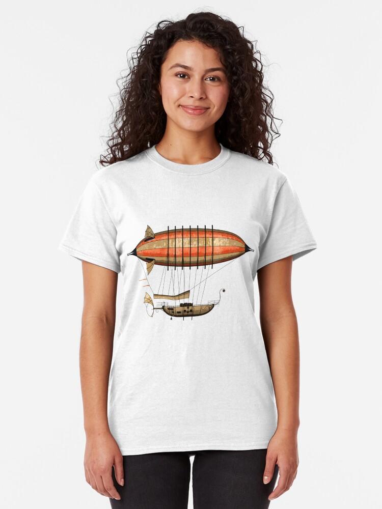 Alternate view of Elegant Vintage Steampunk Airship Classic T-Shirt