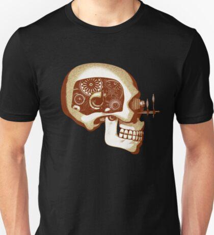 Vintage Steampunk Automaton Skull #1C T-Shirt