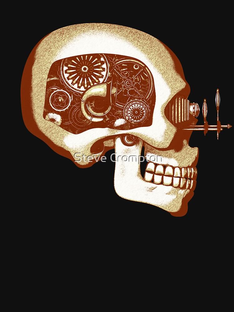 Vintage Steampunk Automaton Skull #1C by SC001