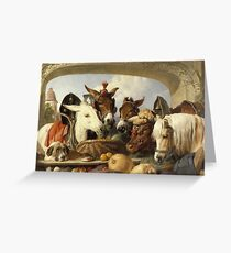 Edwin Landseer - A Group Of Animals, Geneva 1851.  Landseer  Greeting Card