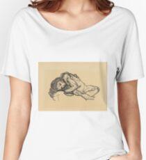 Egon Schiele -  Girl.  Schiele - woman portrait. Women's Relaxed Fit T-Shirt