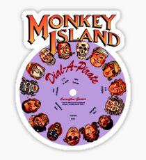 THE SECRET OF MONKEY ISLAND - DISC PASSWORD Sticker