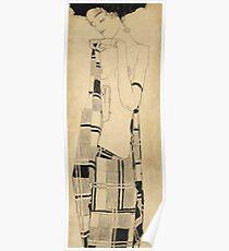 Egon Schiele - Standing Girl. Schiele - woman portrait. Poster