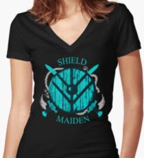 shield maiden - viking warrior - norse Women's Fitted V-Neck T-Shirt